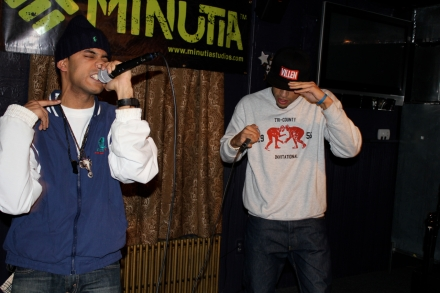 A-Live and Soupa performing in Quincy